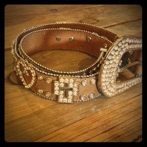 Accessories - Nocona Genuine leather western rhinestone …